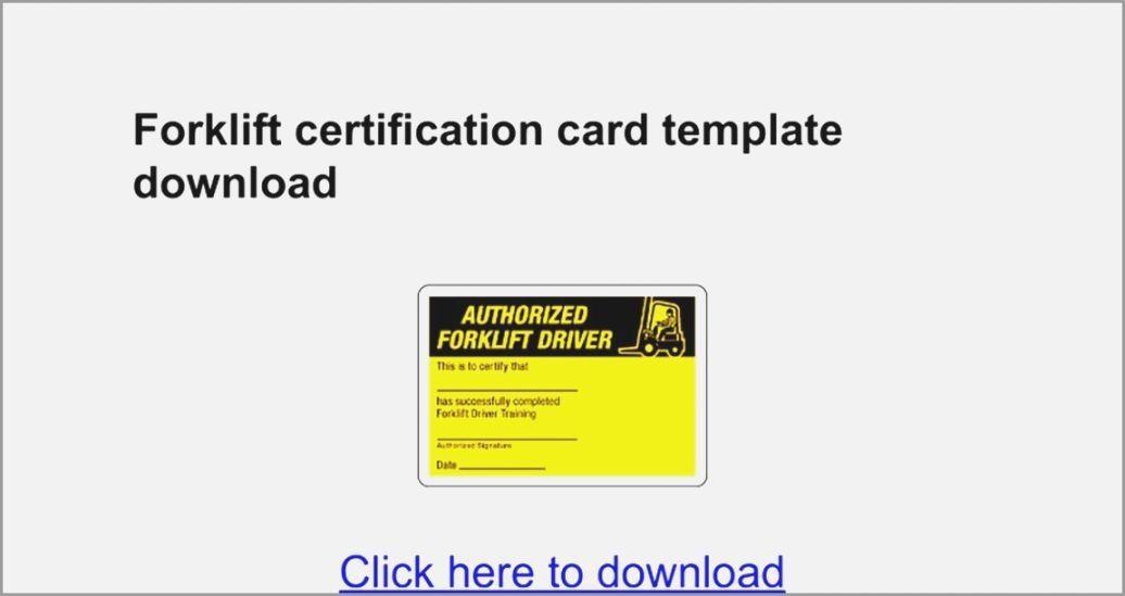 Forklift Operator Card Template Elegant Versatile Free Printable Forklift Certification Cards Certificate Templates Card Templates Free Card Template