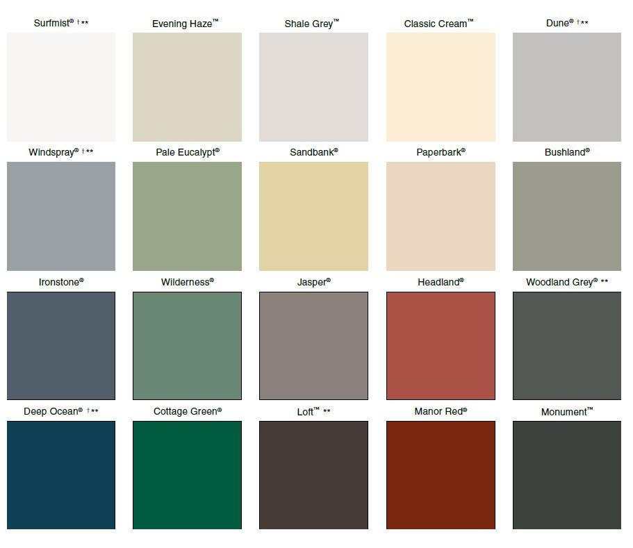 Best Colorbond Colours Exterior Siding Colors Metal Roof Colors Roof Colors 400 x 300