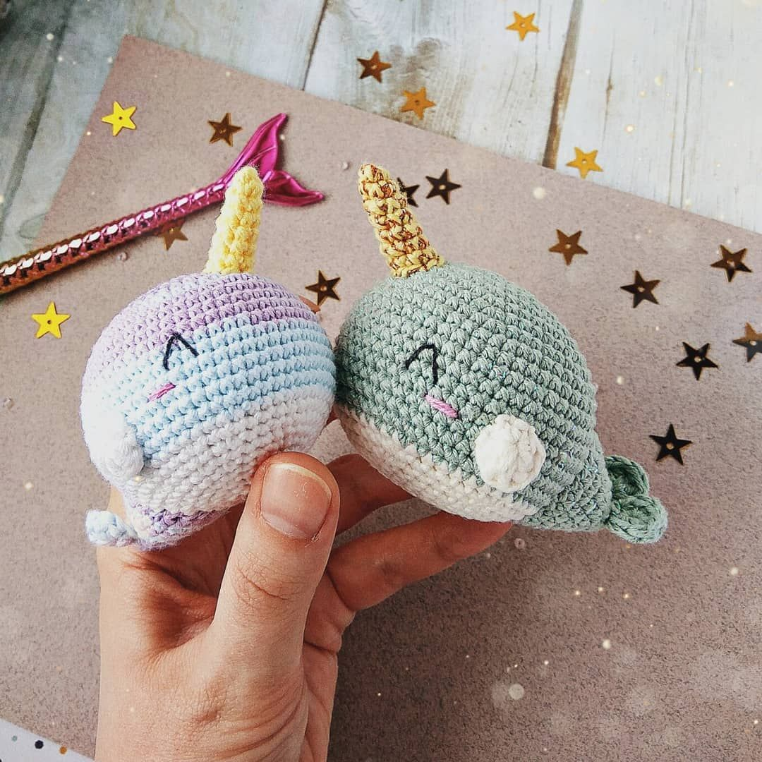 Red Heart Ned and Norman Crochet Narwhal | Yarnspirations | 1080x1080