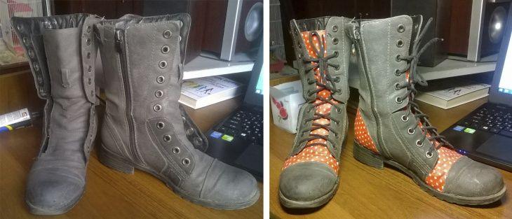 Переделка сапог с помощью аппликации (DIY)   Обувь   ВТОРАЯ УЛИЦА ... bad75efd80f