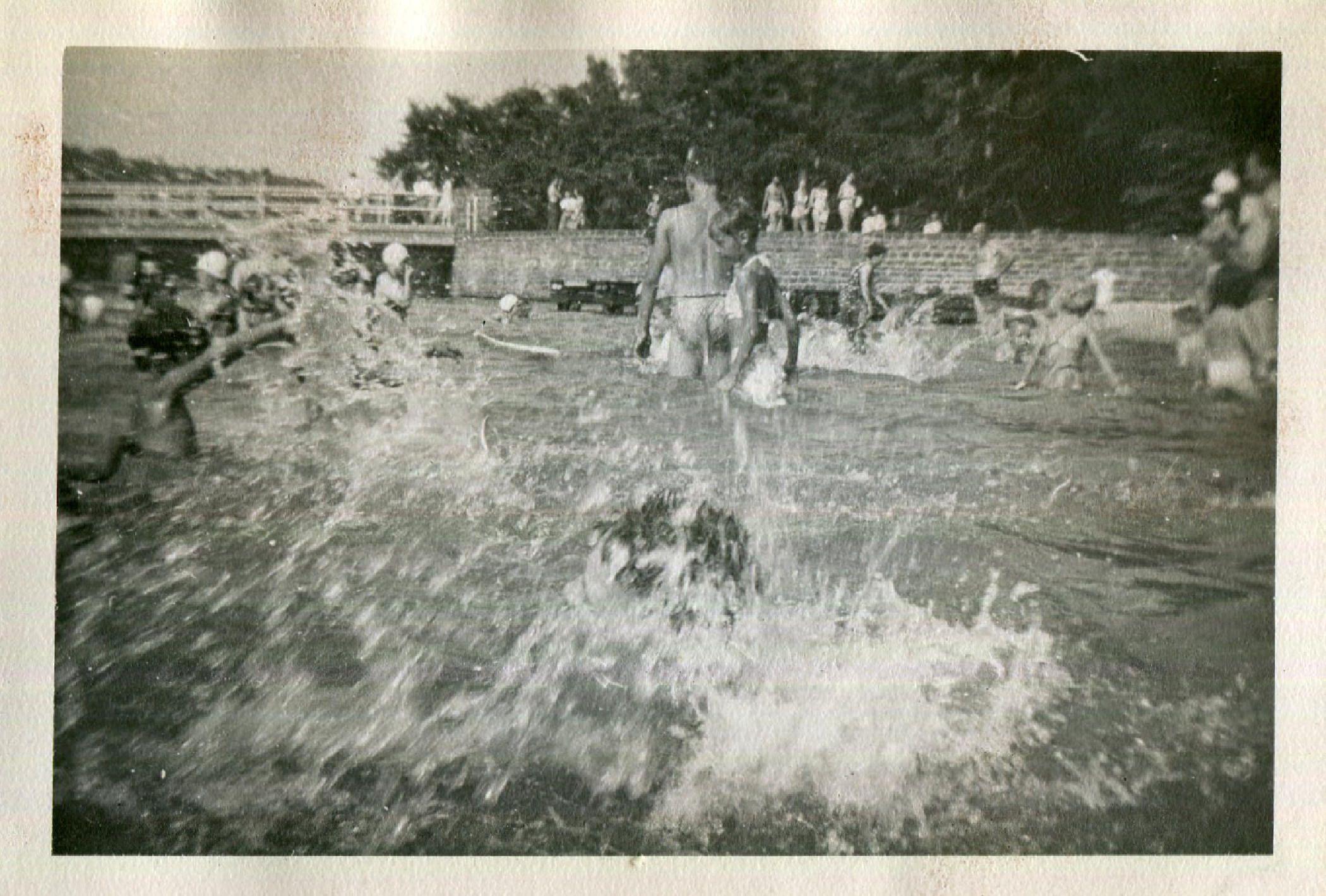 Vintage Photo..Splash, 1940's Original Found Photo, Vernacular Photography by iloveyoumorephotos on Etsy