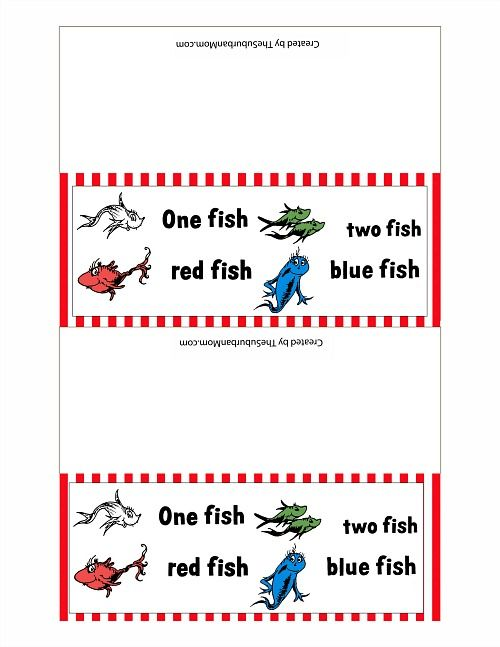 picture about One Fish Two Fish Printable identify Dr. Seuss A person Fish, 2 Fish, Pink Fish, Blue Fish Printables