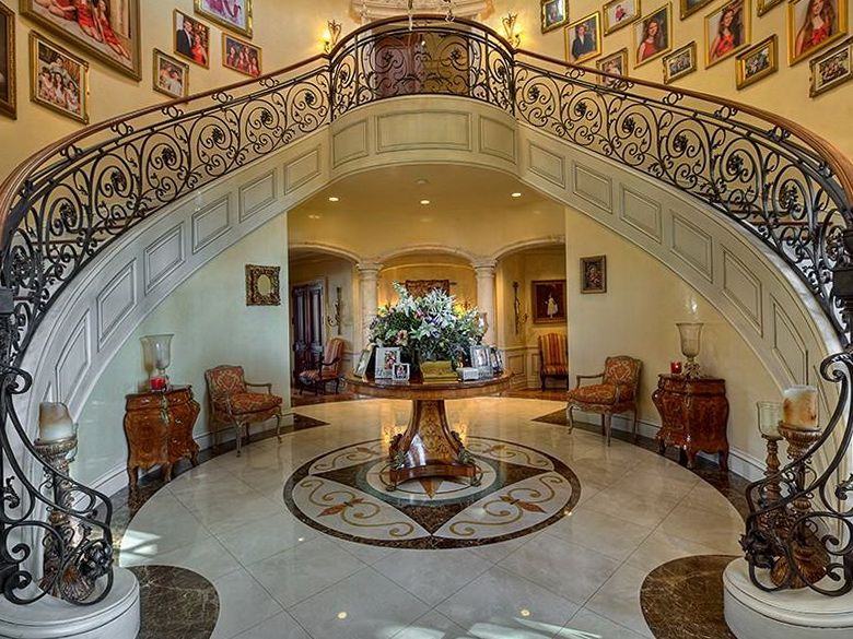 Double Staircases Luxury Hallway Design Inside The Classical Houses Double Staircase