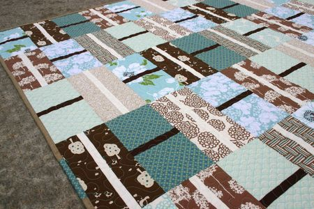 "Free Layer Cake Quilt Patterns | ... cake"" fabric cut into two layers and sewn together with a thin layer"