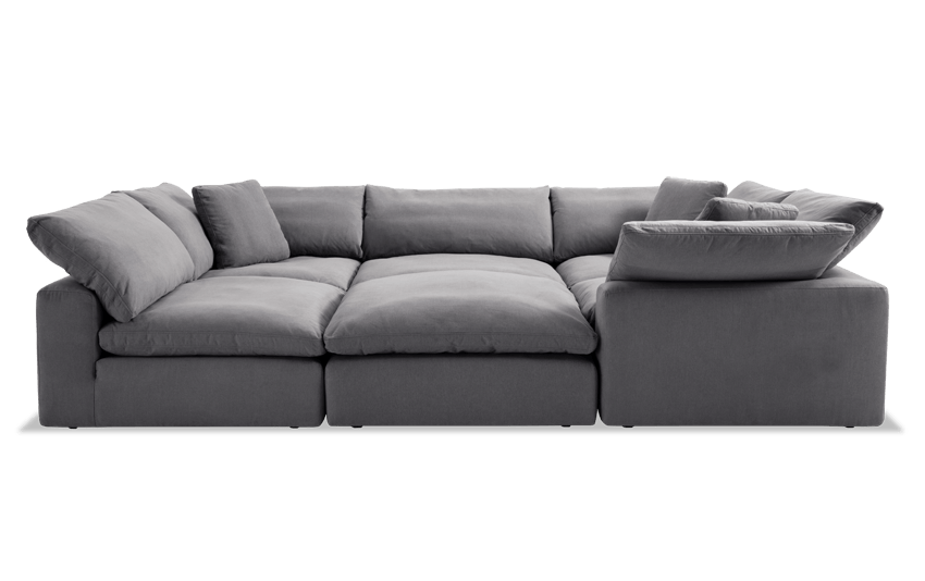 Dream Gray Modular 6 Piece Sectional Sectional Discount Furniture Discount Sofas