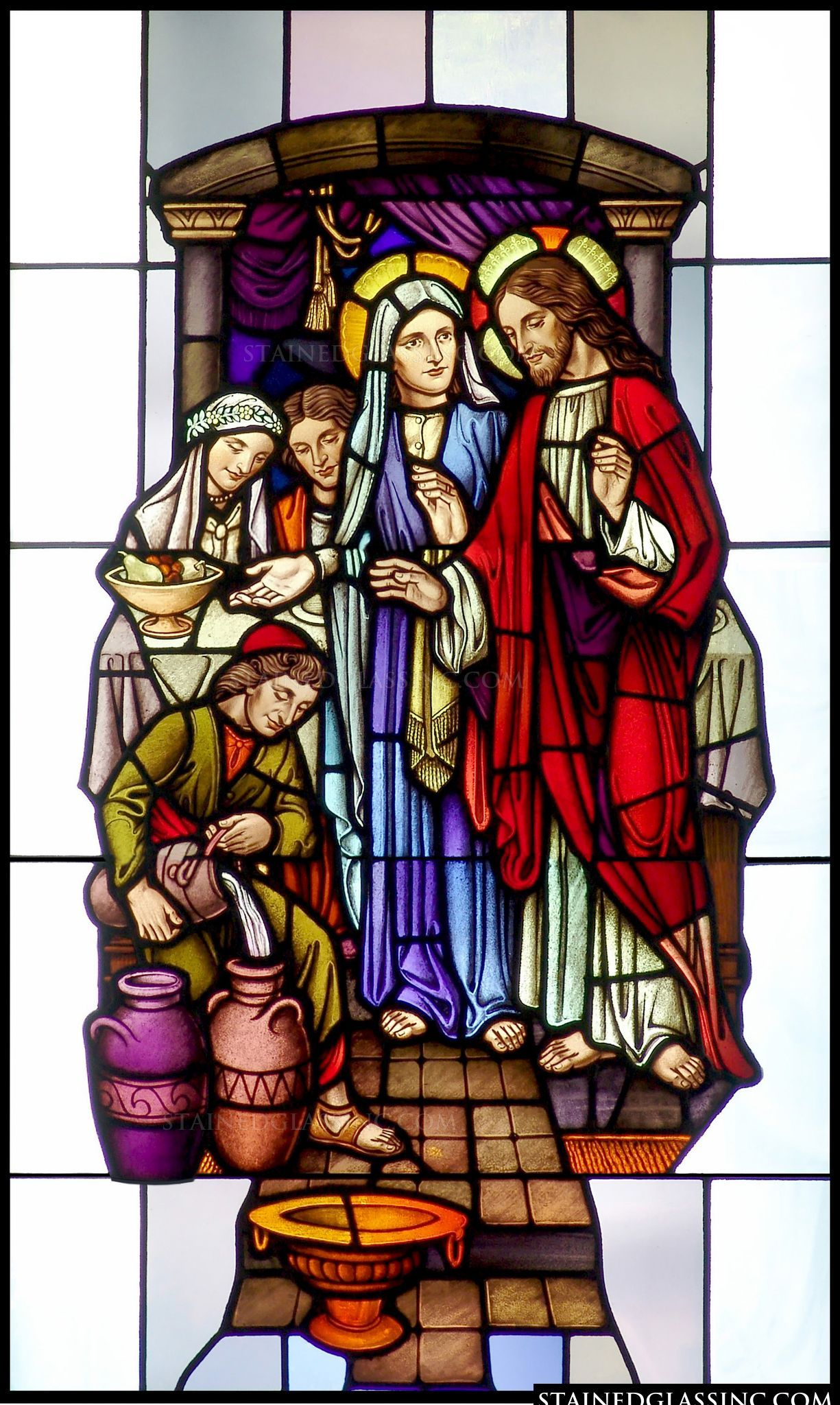 Cana Windows Marriage Of Cana Stain Glass Stained Glass Windows Stained