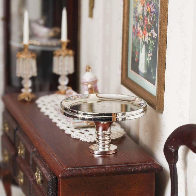 Dollhouse Miniature Pedestal Serving Platter