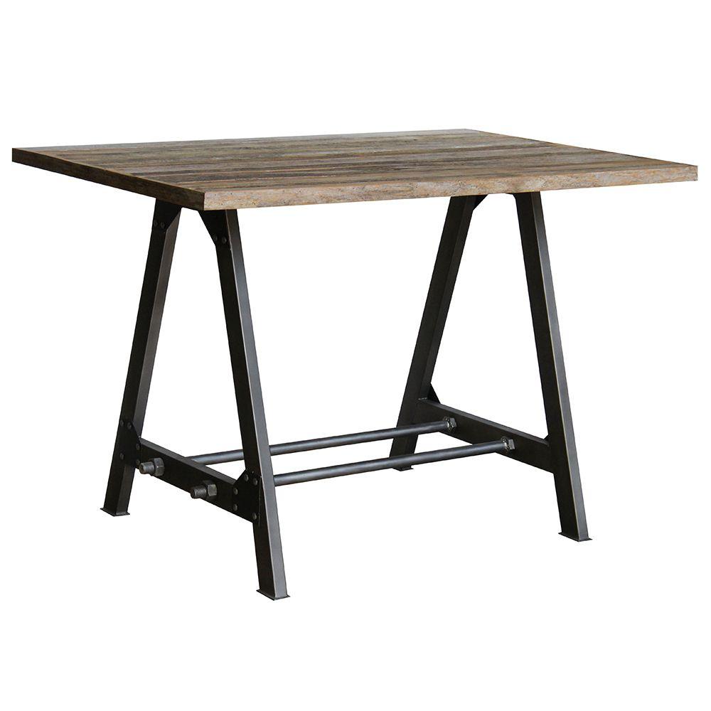 Table 120 x 80cm Teak & Iron - Industrial Furniture | Industrial ...
