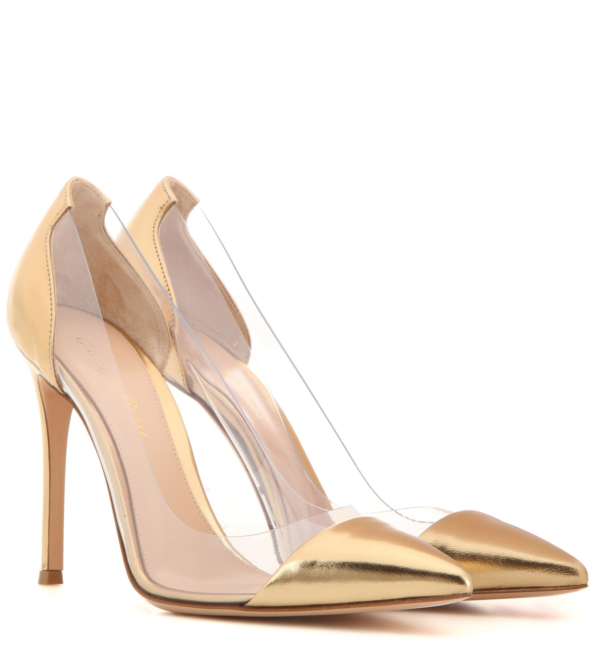 mytheresa.com - Plexi metallic leather and transparent pumps - Shoes - Sale  - Luxury