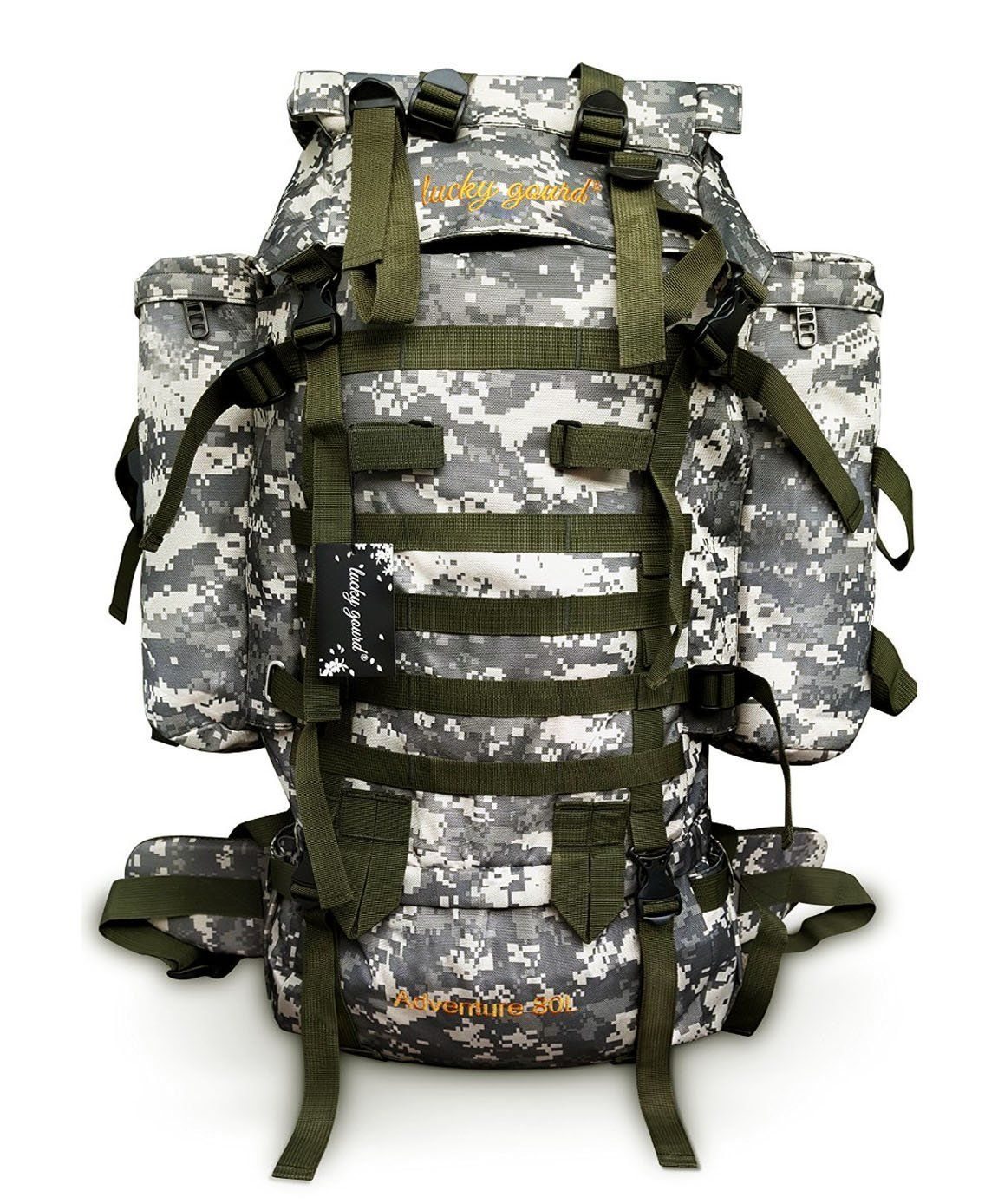 Lucky Gourd 80l Sport Outdoor Military Rucksacks Tactical Backpack Camping Hiking Trekking Bag with Rain Cover ** See this great image  : Hiking backpack