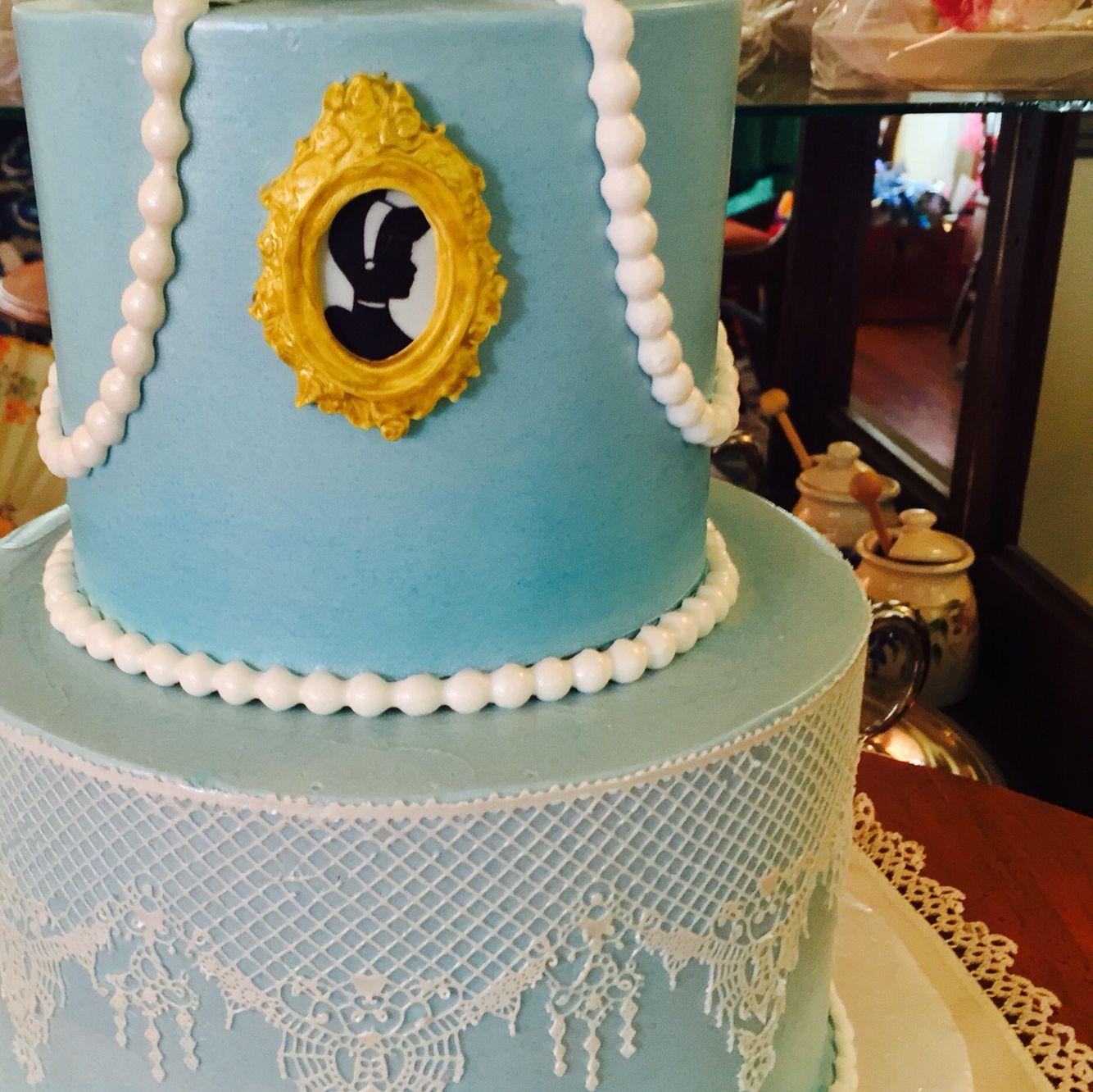 Detailing Of Cinderella Themed Bridal Shower Cake Wedding Cakes