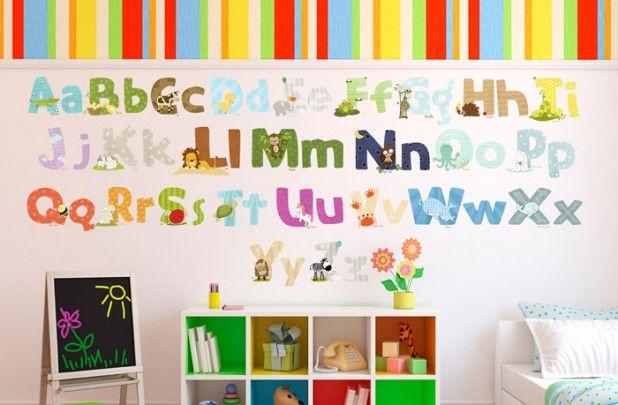 Groopdealz Cute Animal Alphabet Wall Decal Stickers Alphabet