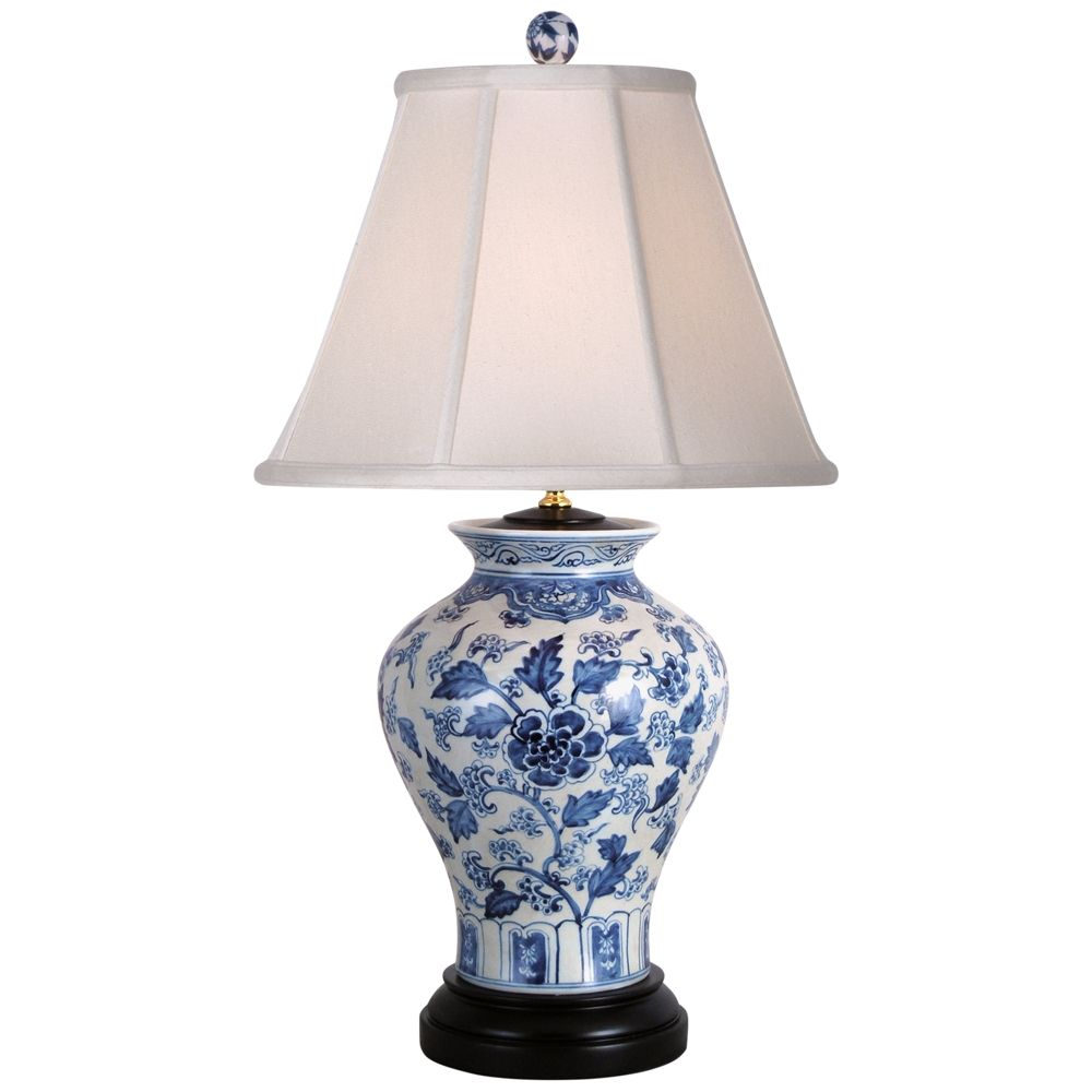 Jinan Blue And White Porcelain Table Lamp 32x18 Lamps Plus In 2021 Traditional Lamps White Table Lamp White Ceramic Lamps