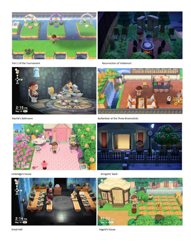 Created Harry Potter Themed Island On Animal Crossing It S Still Wip Acqr Animal Crossing New Animal Crossing Animals