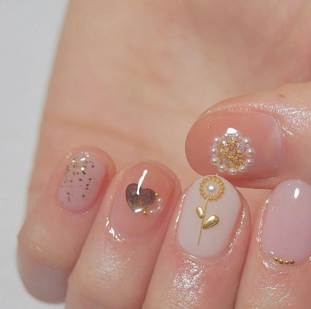 50 Creative Flower Nails Art For Your Valentines Day