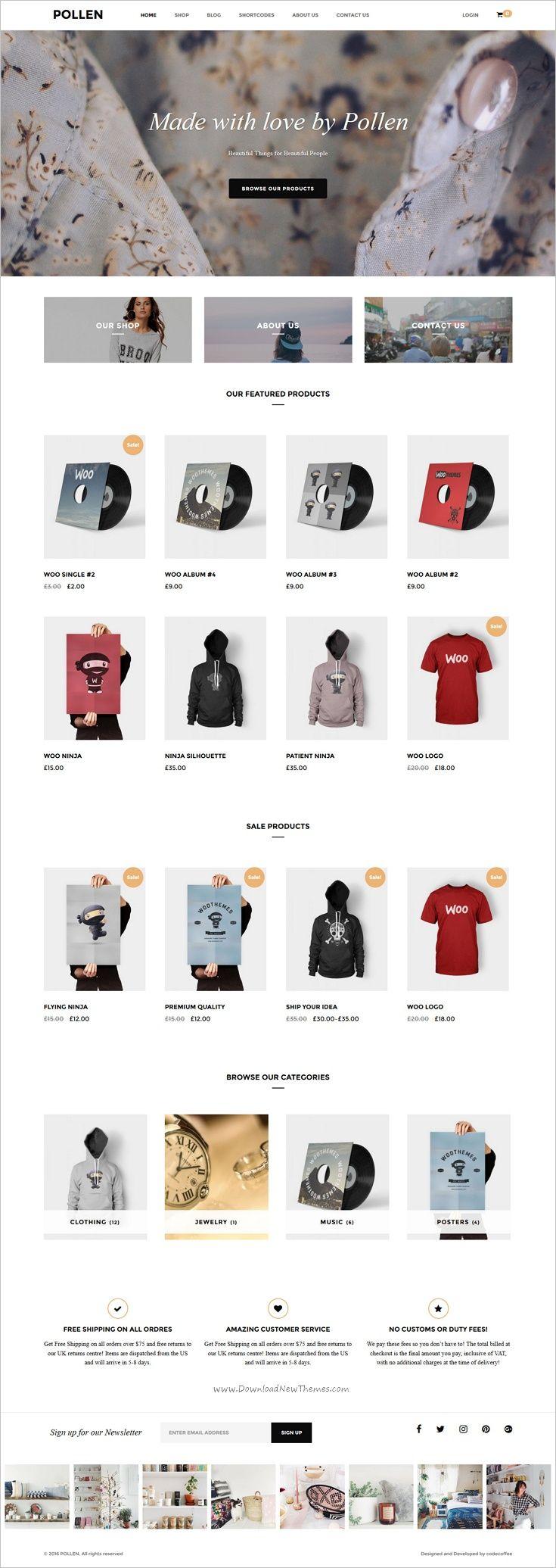 Pollen is a #minimalist responsive #WordPress theme for online #shop eCommerce website download now➩   https://themeforest.net/item/pollen-responsive-ecommerce-wordpress-theme/18133929?ref=Datasata