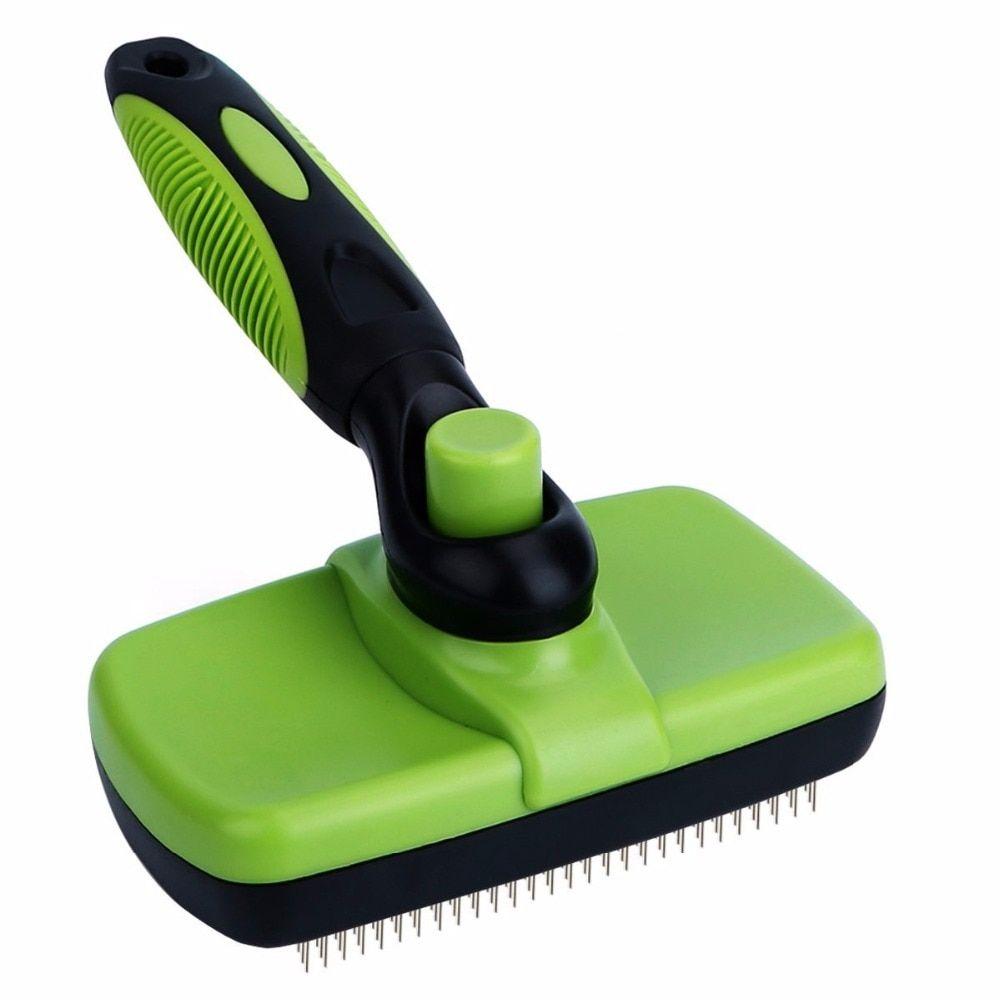 1 AllInOne Self Cleaning Slicker Brush Pet grooming