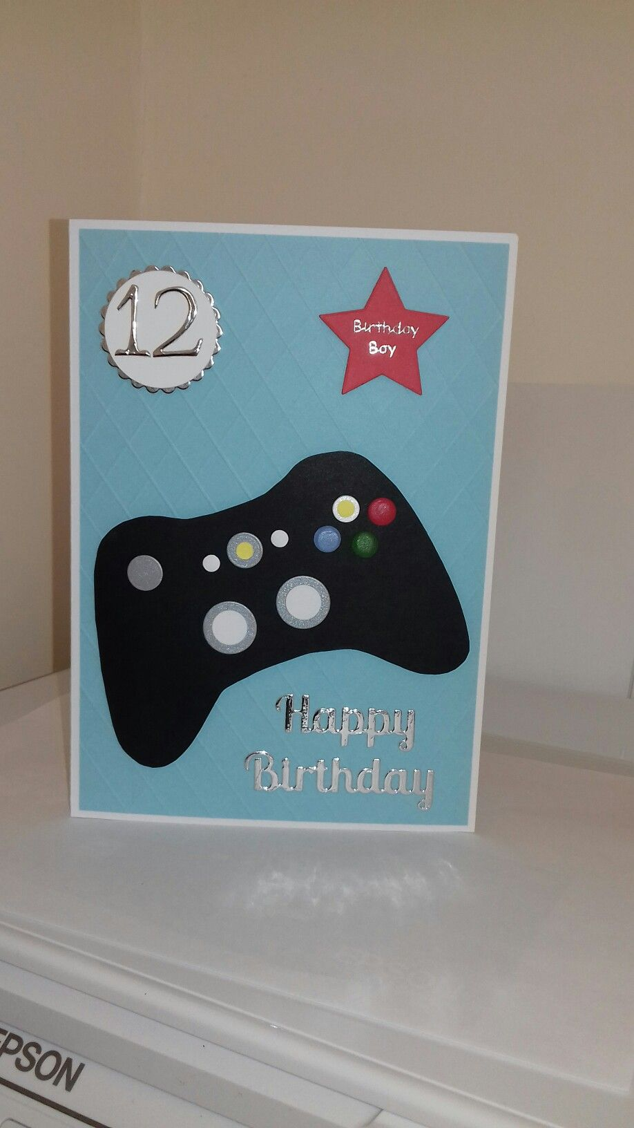 Xbox birthday card for our Grandson  Kids cards, Birthday cards