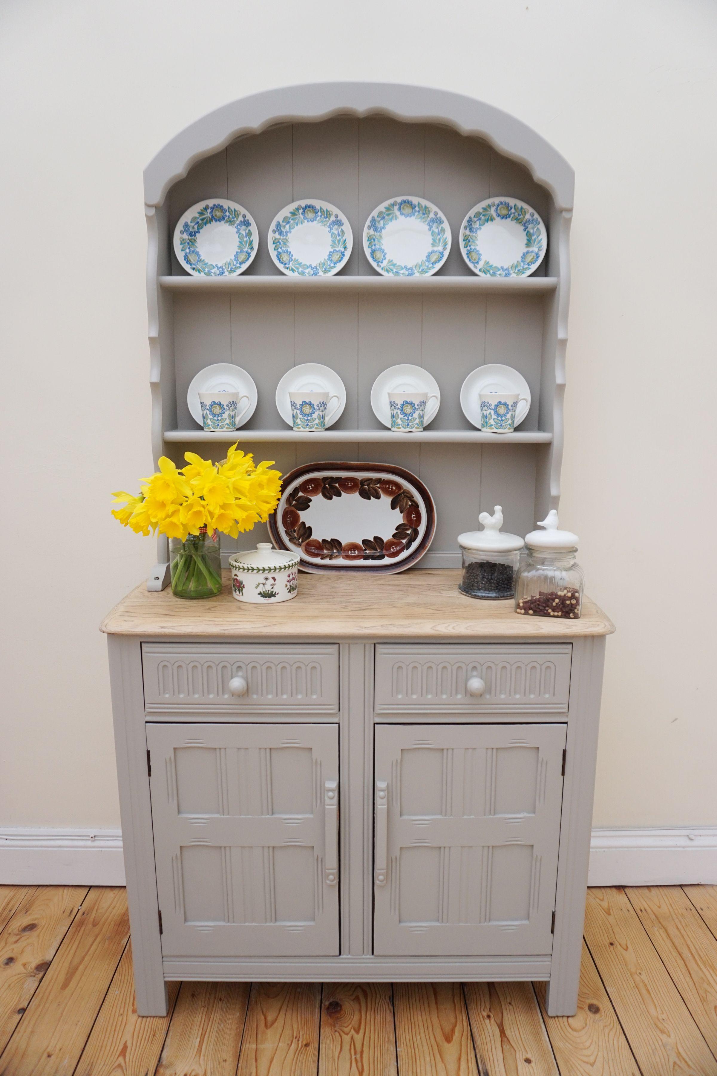 Priory Oak dresser has been restored by SALT LONDON Painted in