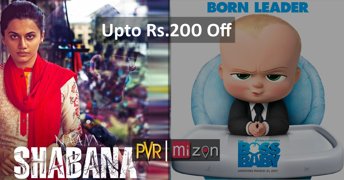 Upto Rs.200 off on all PVR movie tickets and FnB. Buy now