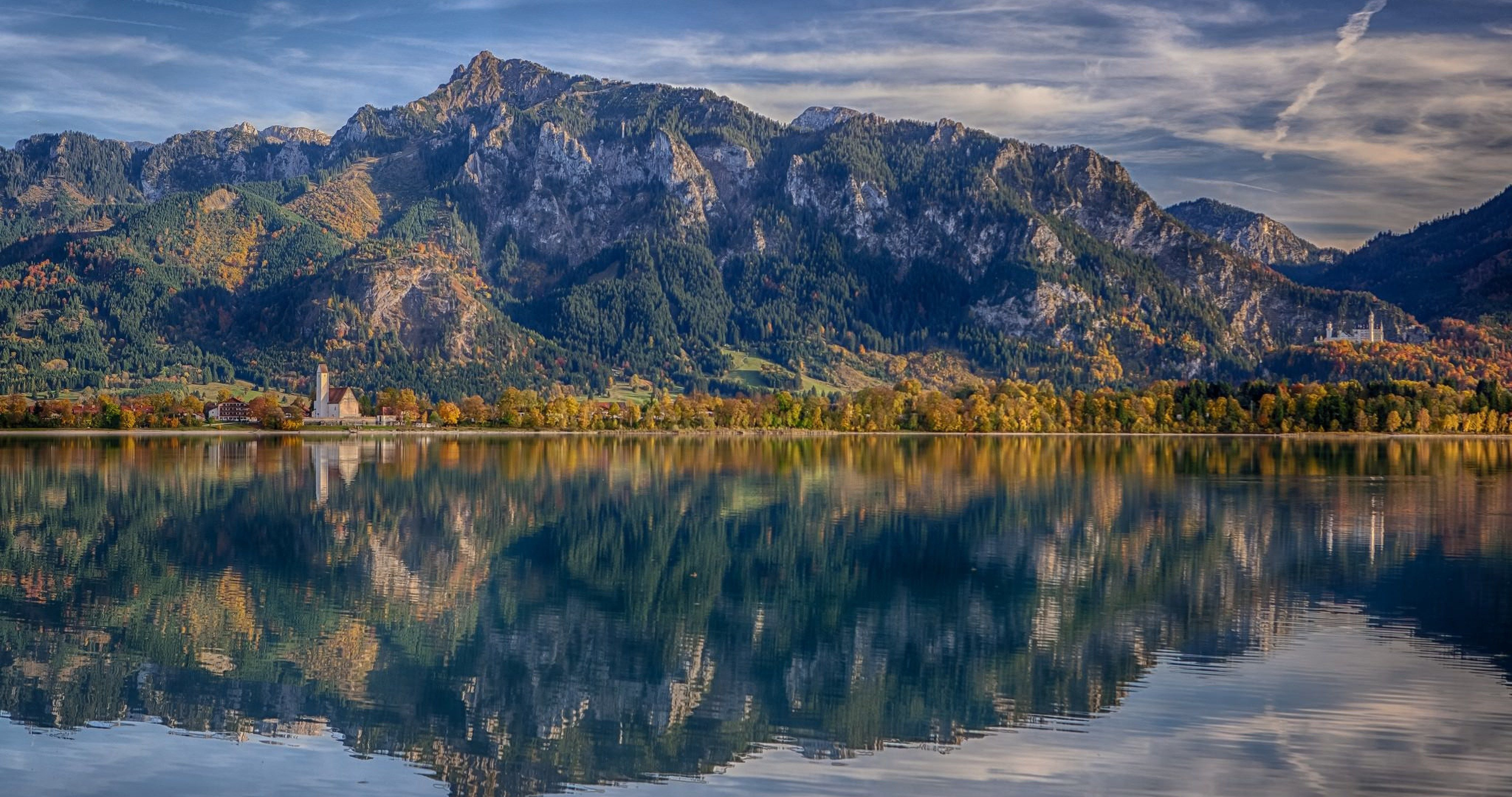 lake forggensee bavaria germany wallpaper 4k ultra hd