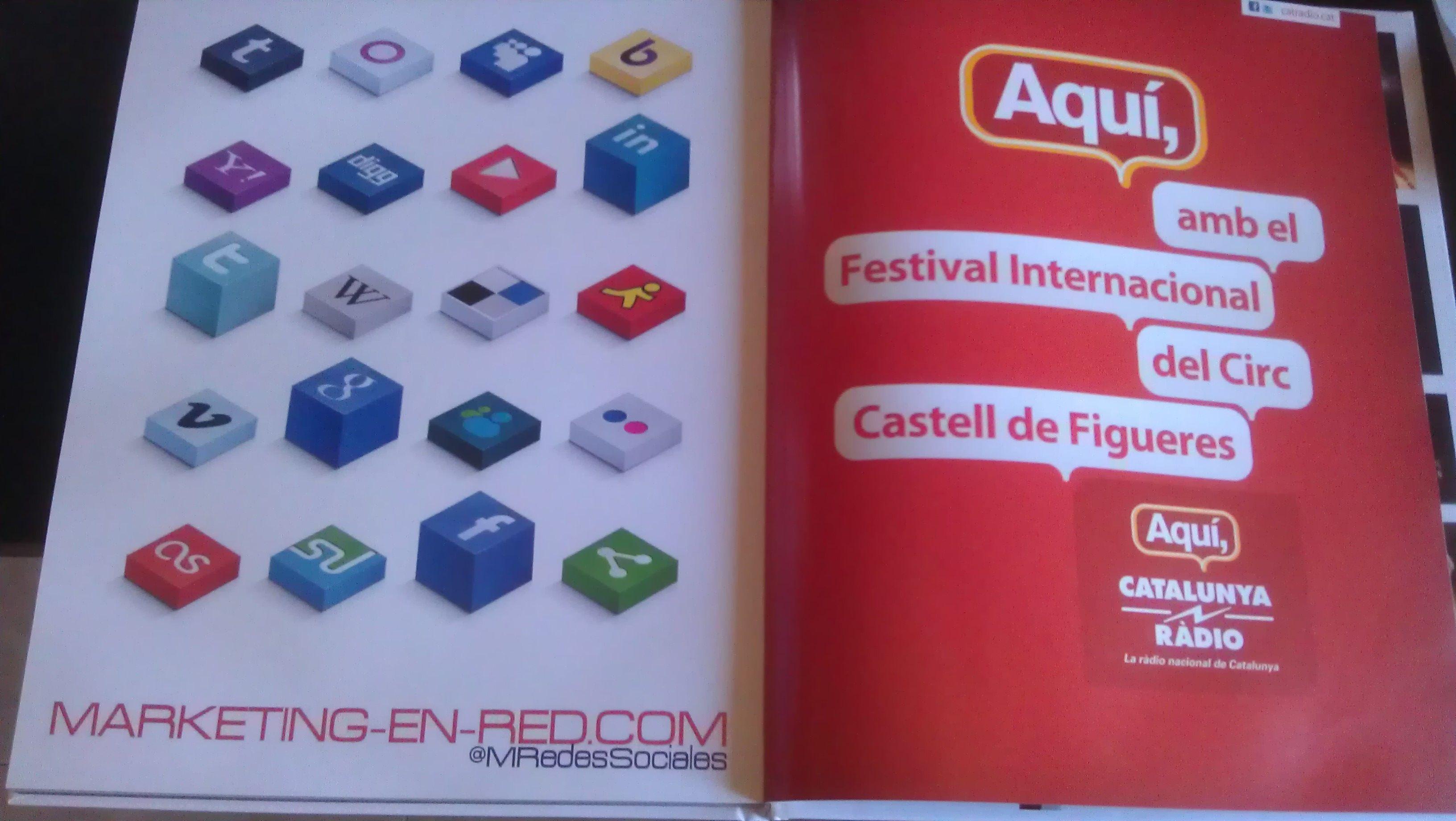 Publicidad de marketing-en-red.com en el libreto de mano del 1er festival internacional del circ