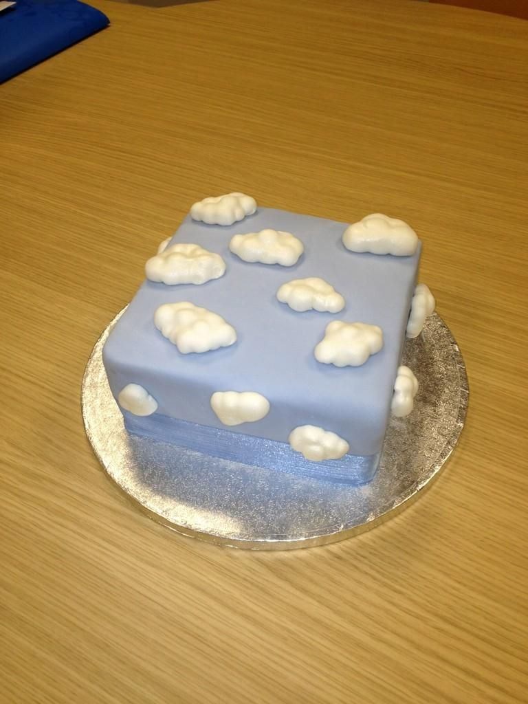 Cloud Cakeall Clouds On Fondant Blue Sky Background Cake