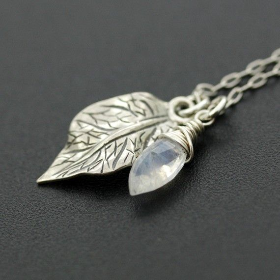 Rainbow moonstone  Briolette and a sterling silver by ShoogiSpark, $28.00