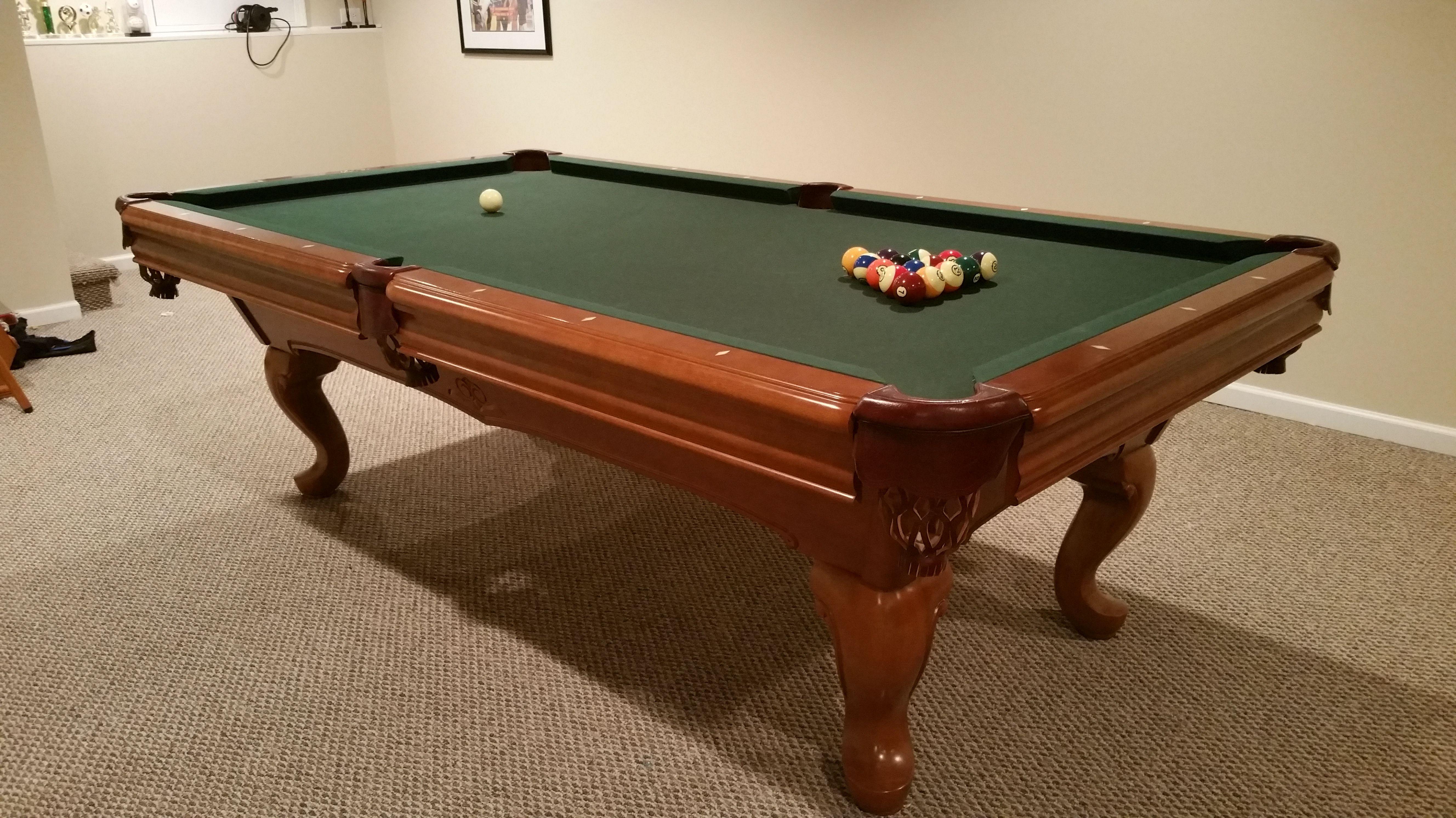 Brunswick Billiards Camden 8 Spoon Legs Used Pool Tables