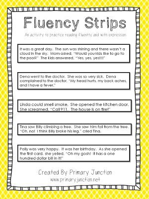 Fluency Strips - an activity to teach reading fluently and ...