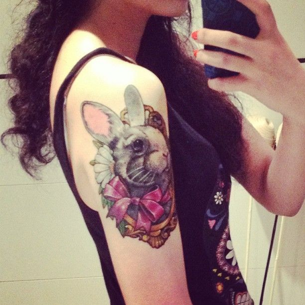 Another bunny tat - I really like this one! | Tattoos ...