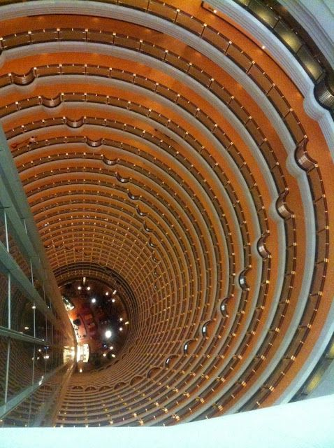 View from the reception of a hotel located on the highest floor of the world, on the 57th floor - China