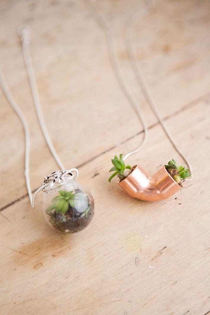 diy r aliser un pendentif pour petite plante nature. Black Bedroom Furniture Sets. Home Design Ideas