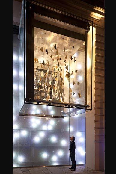 Commercial Retail Space Design Swarovski Shop Vienna Austria Window Display Installation Exp Retail Space Design Decorative Lighting Design Retail Lighting