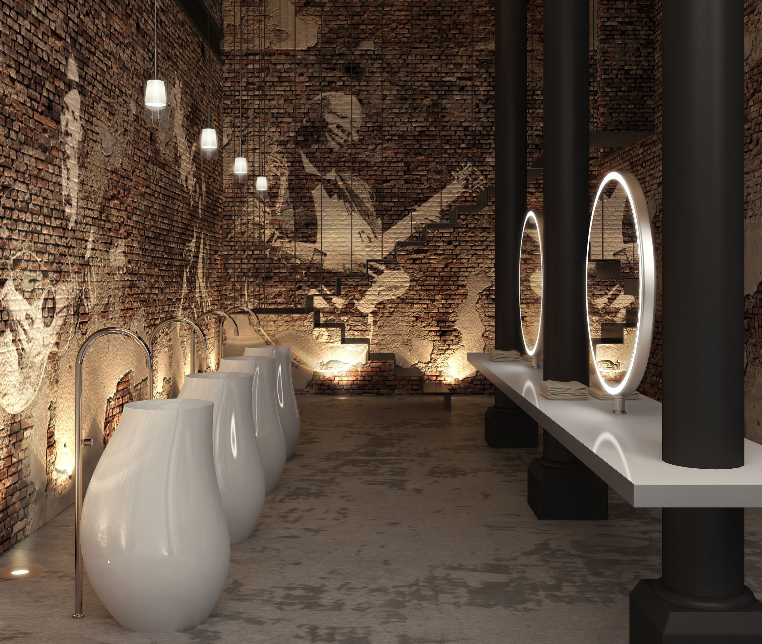 Swing washbasin by sanico a sculpture in motion - Restaurant bathroom design ideas ...