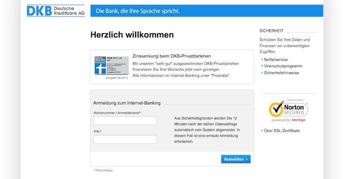 DKB Login DKB.de Online Banking Deutsche Online