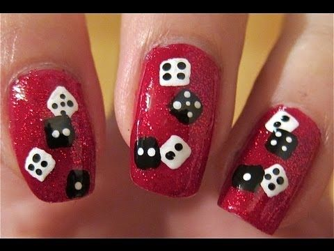 Christmas nails dice nails great for new years also great for christmas nails dice nails great for new years also great for a night prinsesfo Image collections