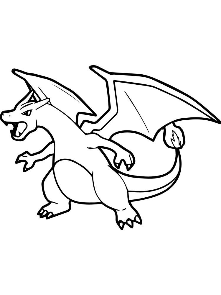 charizard coloring pages to print. Charizard is one of the ...