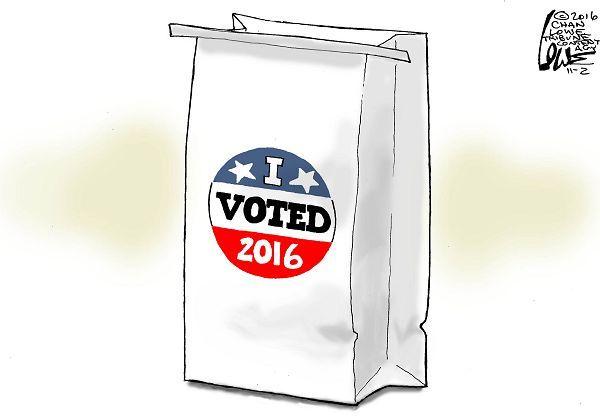 I VOTED | Nov/02/16 Cartoon by Chan Lowe -