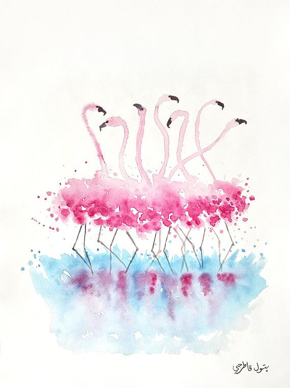 Flamingo, Original Painting, Flamingo gifts, Flamingo Decor, Watercolor Painting, Pink Flamingos, Flamingo wall art, Flamingo, Made to Order