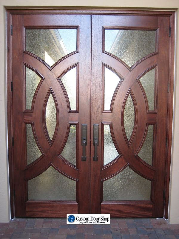 Gorgeous Front Doors Custom Double Front Doors With Circle Design