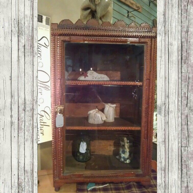 Marvelous Antique Glass Front Cabinet!! $74.99