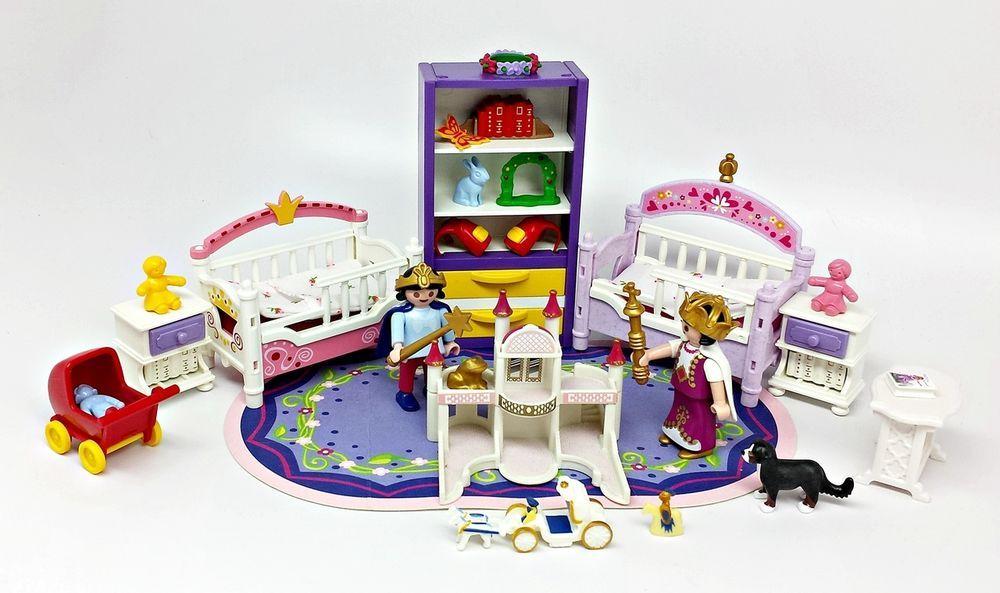 Playmobil 2 Girls, Princess Theme Purple Bedroom Beds Rug
