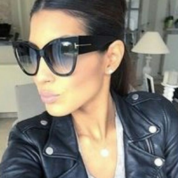 2c6d68b8c4f3 1 HOUR SALE Tom Ford ANOUSHKA Black Sunnies- NEW Made of Acetate and  Plastic