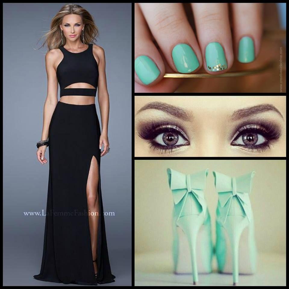 Black dress nails - La Femme 21106 Cut Out Prom Dress Black Dress Long Prom Dress
