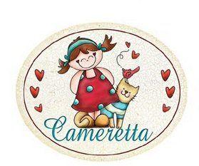 Photo of Targa legno Ovale con passamaneria CAMERETTA Casa gatto bambina Idea regalo: Amazon.it: Casa e cucina