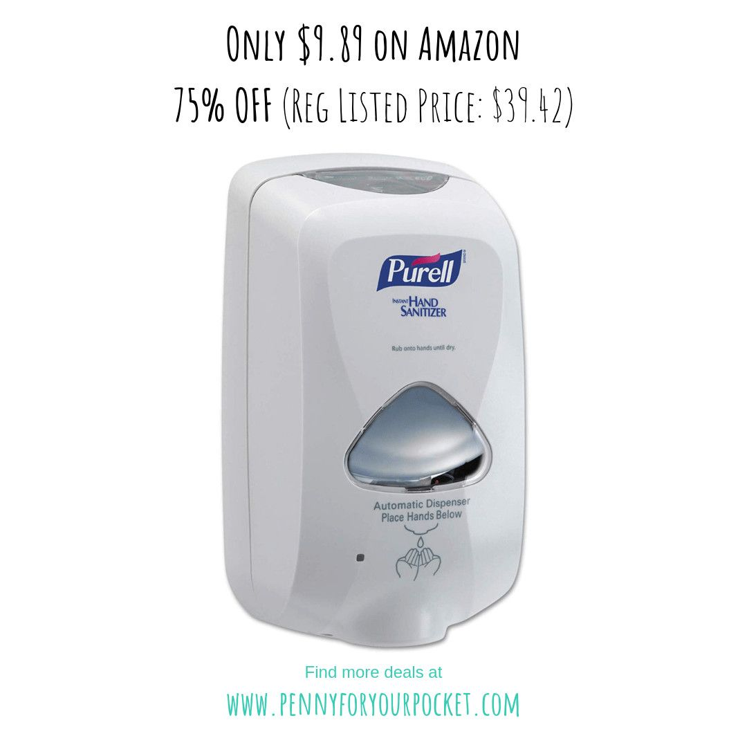 75 Off Purell Touch Free Hand Sanitizer Dispenser Amazon