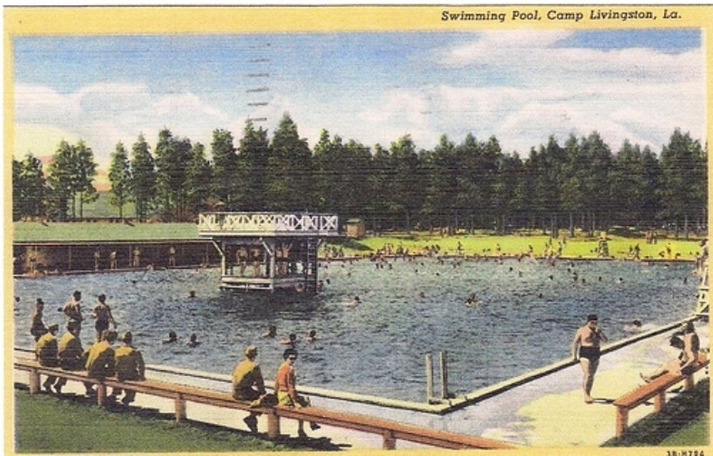 Picture Postcard - Camp Livingston, Louisiana - Swimming ...