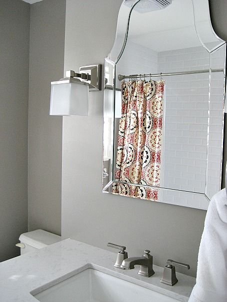 Sherwin Williams Mega Greige Bathroom. Mirror From Lowes, Allen+Roth