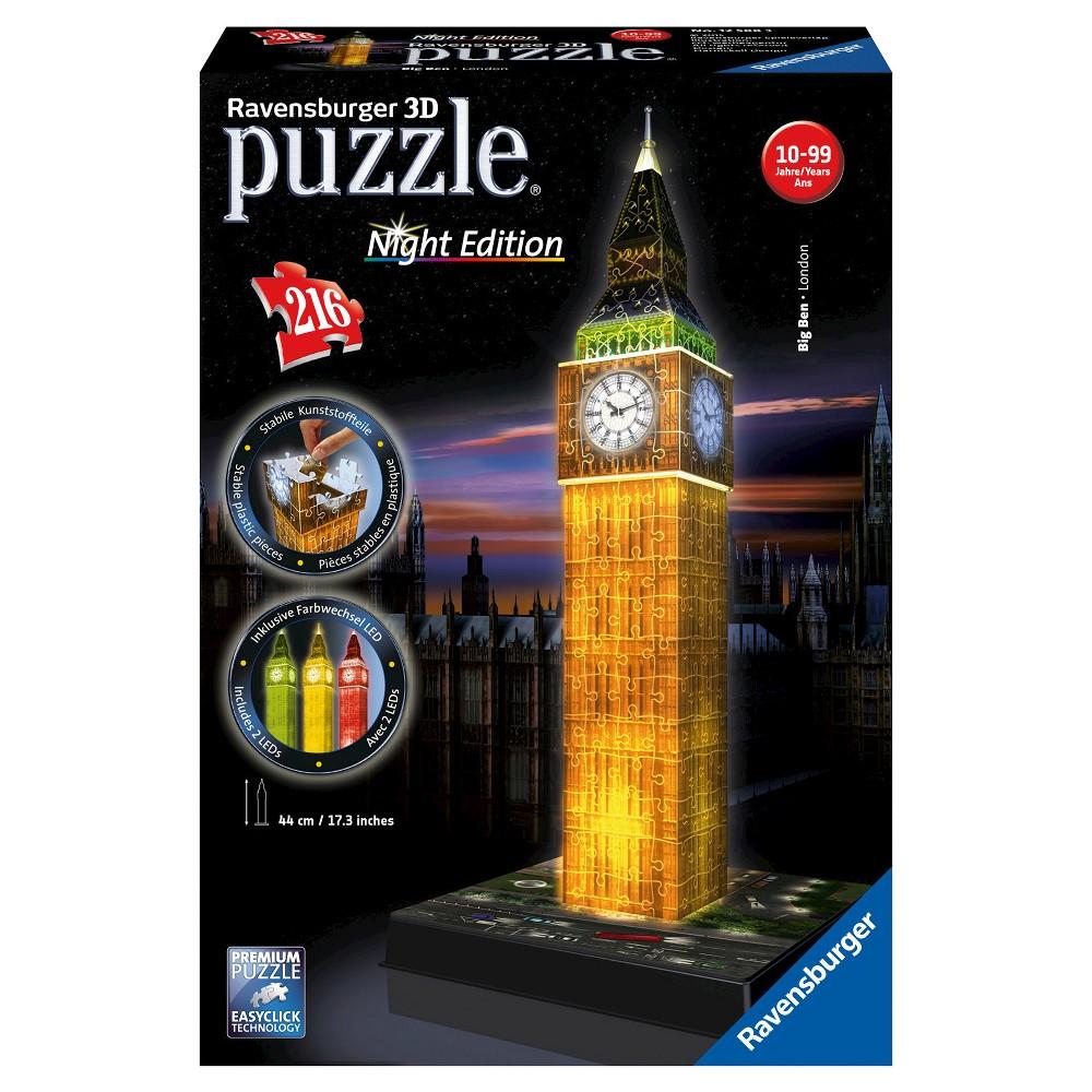 Ravensburger 3D Puzzle Paris Eiffelturm bei Nacht Night Edition ab 12 Jahren NEU
